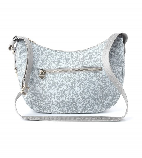 Borbonese White small Luna bag FnV5A